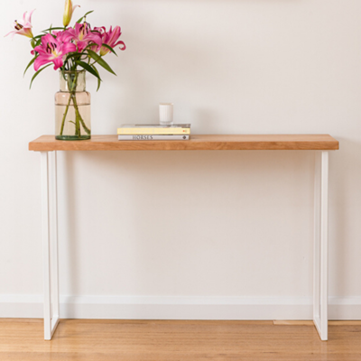 Belle Console | Tasmanian Oak | White Base