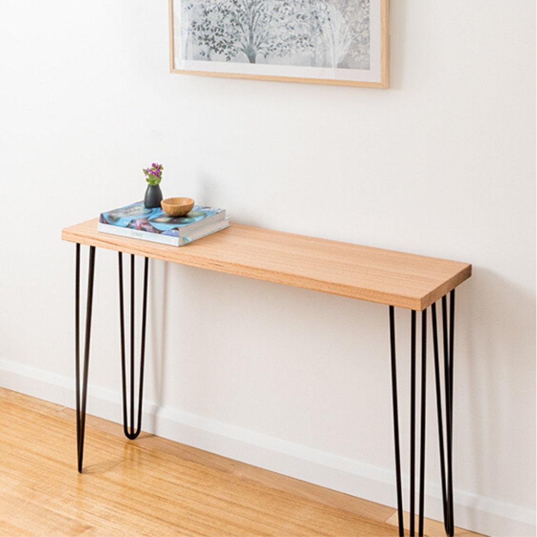 Molly Hall Stand | Hand Made Tasmanian Oak - Black Legs