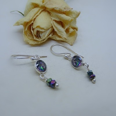 Silver earrings - Mistic Zirconia