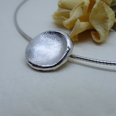 Silver fingerprint pendant