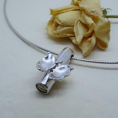 Silver ash pendant
