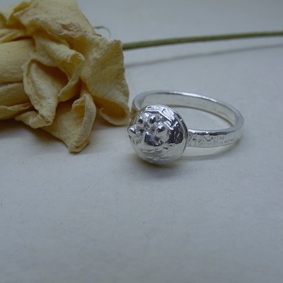 Silver ash ring