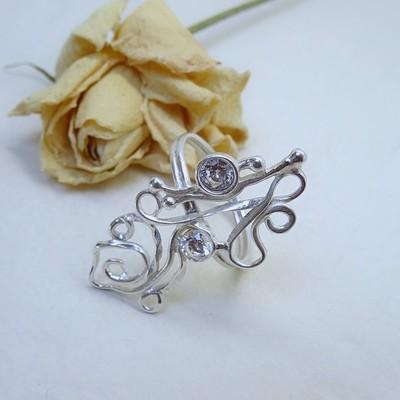 Silver ring - Crystal zirconia
