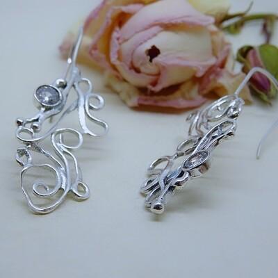 Silver earrings - Zirconia stones