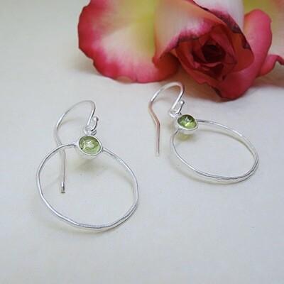 Silver earrings - Peridot stones