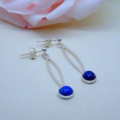 Silver earrings - Lapis Lazuli stones