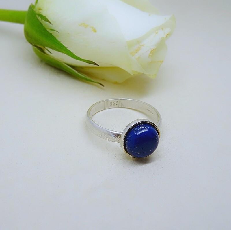 Silver stack of rings - Lapis Lazuli stones