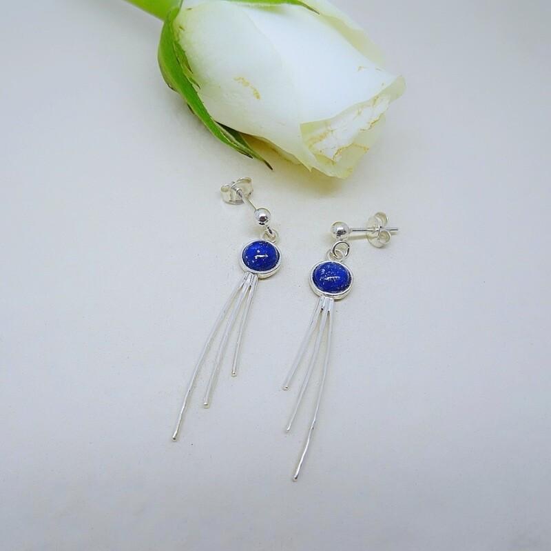 Silver earrings - Lapis Lazuli stones