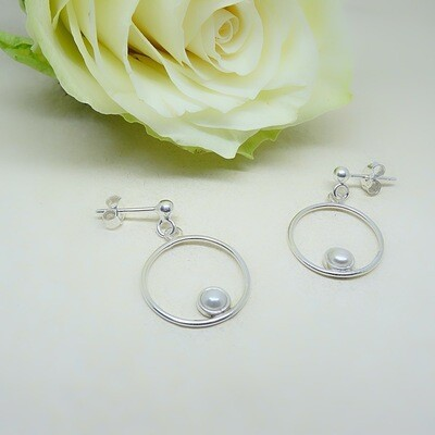 Silver earrings - Freshwater pearls