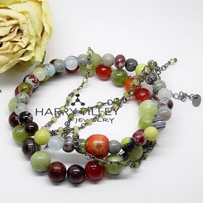 Bracelet set - Natural stones