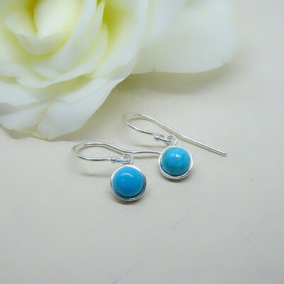 Silver earrings - Turquoise stones