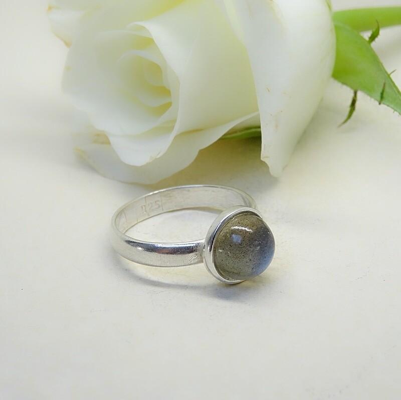 Silver stack of rings - Labradorite stones
