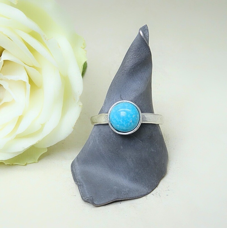 Silver stack of rings - Turquoise stones