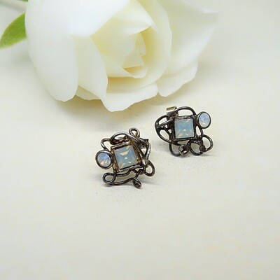 Silver earrings - Swarovski stones