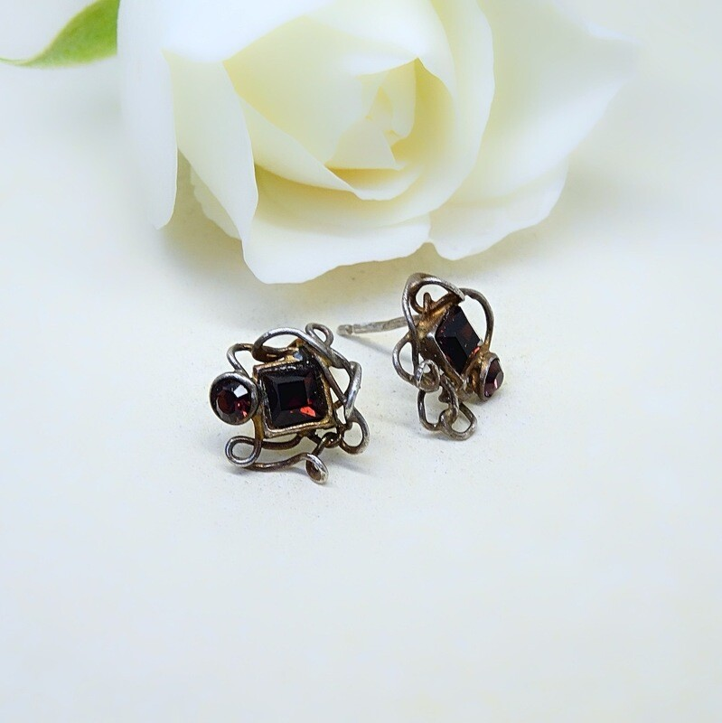 Silver earrings - Swarovski stones