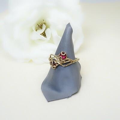 Silver ring - Swarovski stones