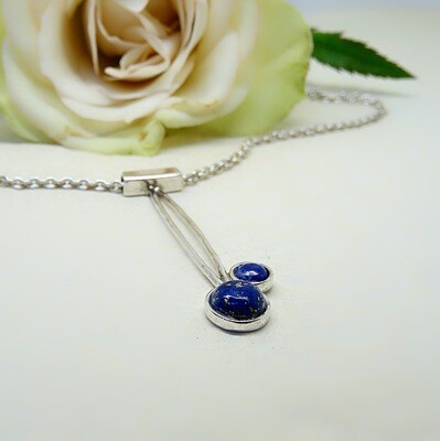 Silver pendant - Lapis Lazuli stones