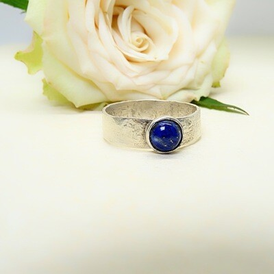 Silver ring - Lapis Lazuli stone
