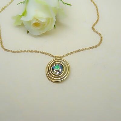 Gold-plated pendant - Paradise Shine Swarovski