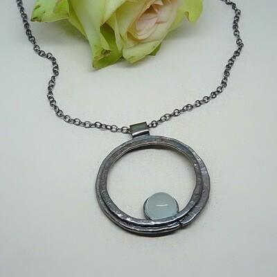 Silver pendant - Aquamarine