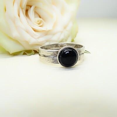 Silver ring - Black Onyx stone