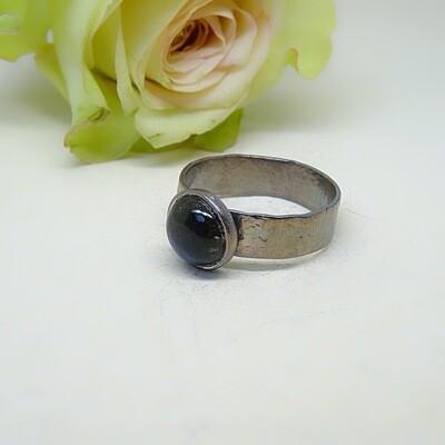 Silver ring - Labradorite stone