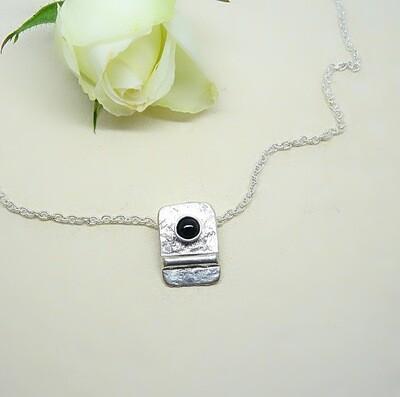 Silver pendant - Black Onyx
