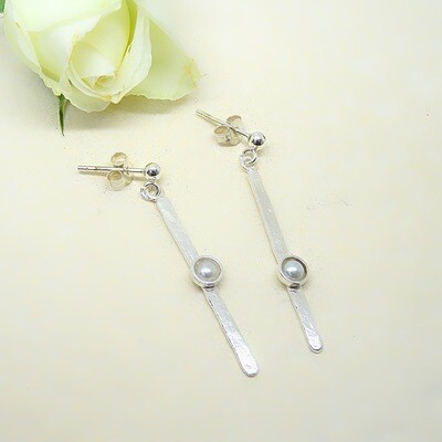 Silver earrings - Freshwater pearl