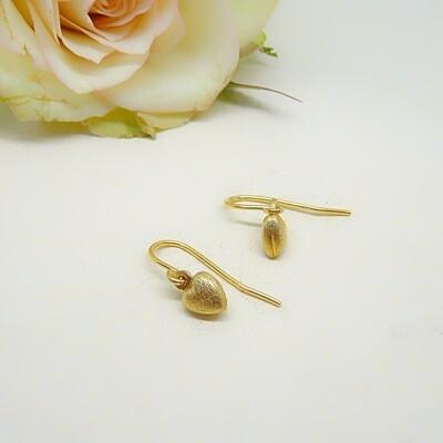 Silver earrings - Ice matte finish