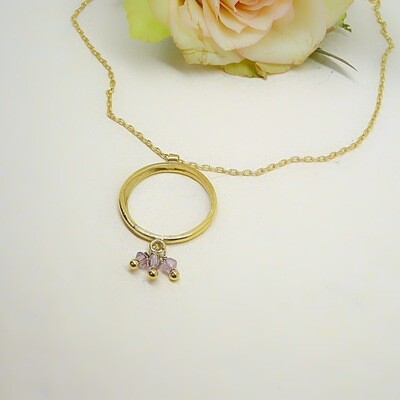 Gold plated silver pendant