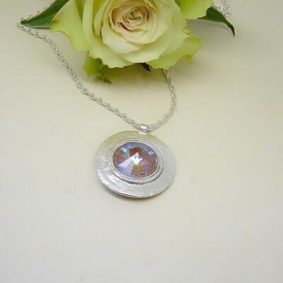 Silver pendant - Swarovski