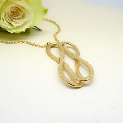 Gold plated silver pendant - Elliptical