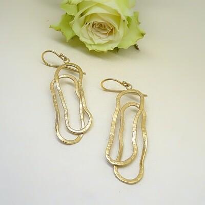 Silver earrings - Elliptical