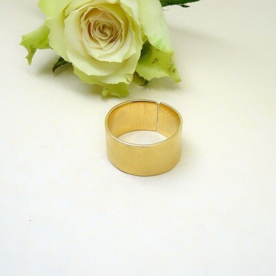 Silver gold-plated ring - mat finishing