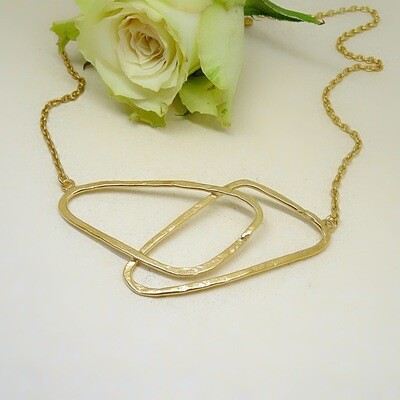 Gold plated silver necklace - Original