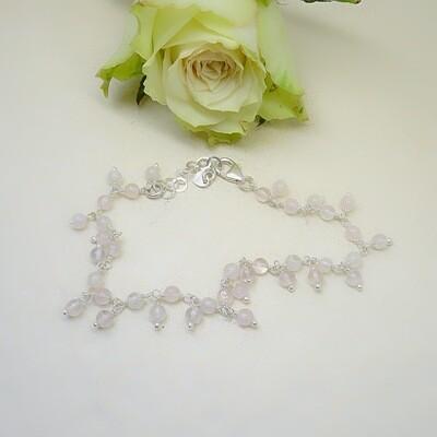 Zilver bracelet - Freshwater pearls