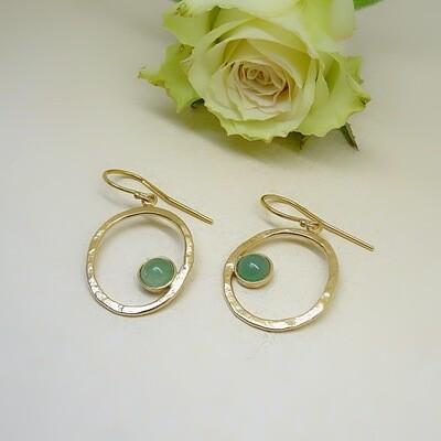 Silver earrings - Aventurine