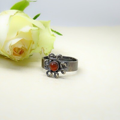Silver ring - Carnelian