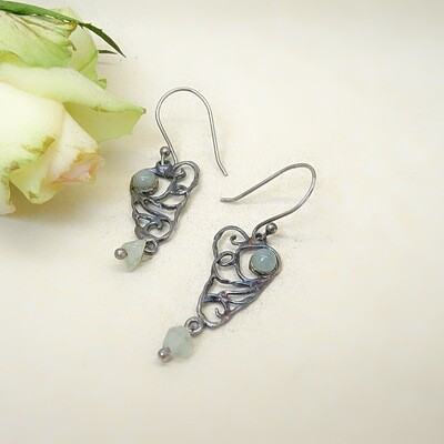 Silver earrings - Aquamarine