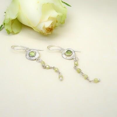 Silver earrings - Peridot