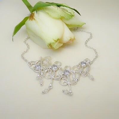 Silver pendant - Crystal Swarovski