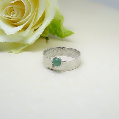 Silver ring - Aventurine