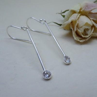 Silver earrings - Crystal Zirconia
