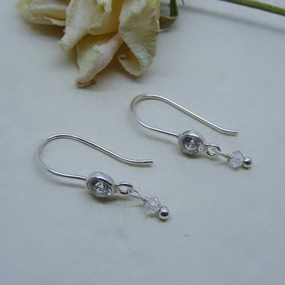 Silver earrings - Crystal Zirconia