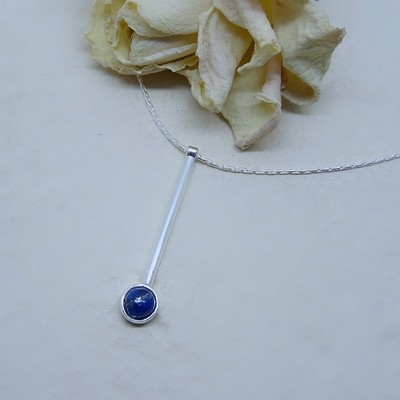 Silver pendant - Lapis Lazuli stone