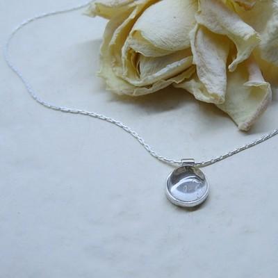 Silver pendant - Crystal stone