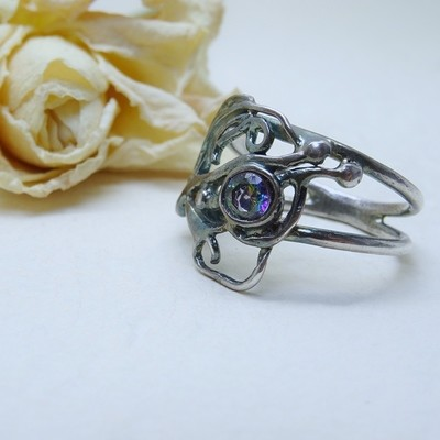 Silver ring - Mistic zirconia