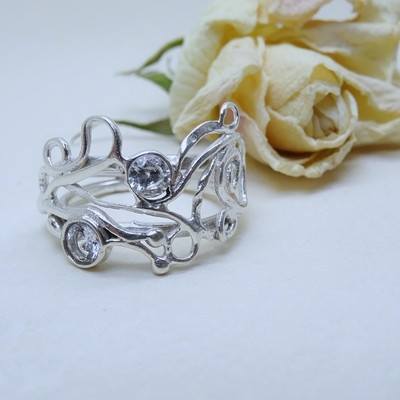 Silver ring - Crystal zirconia