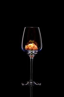 Бокал для белого вина. Гвоздика. Роспись.