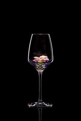 Бокал для белого вина – Гладиолус розовый.